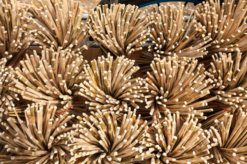 chopsticks wallpaper, texture of bind sheaf of bamboo chopsticks