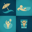 vector collection of summer tourism and vacation symbols