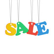 colorful sale tags isolated on white background.seasonal sale.ve