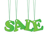 green sale tags.seasonal sale.vector