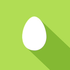 Vector logo egg, flat graphic