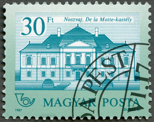 HUNGARY - 1987: shows De la Motte, Nosvaj, series Castles