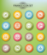 Finance icons,Colorful version,vector