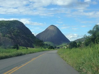 mountain on road in brazil