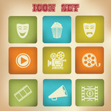 Movie icons,vintage version,vector