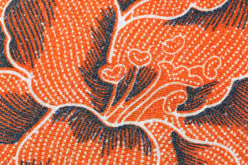 Thai Batik sarong flower pattern.