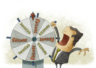 Success failure in wheel of fortune.