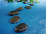 zen stones in water - 62212974