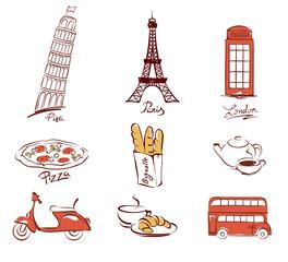 Symbols of European cities
