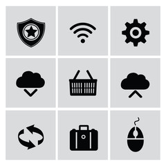 Networking icons,vector