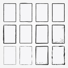 Vector Grunge Frame Set