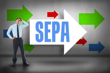 Sepa against arrows pointing