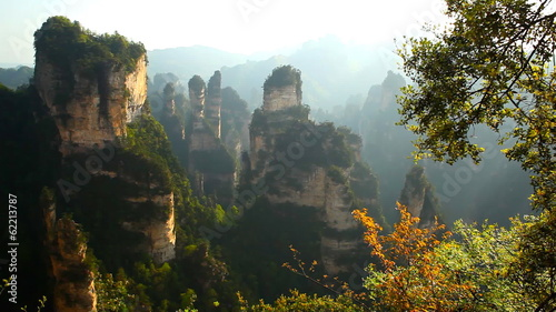 Avatar mountains. Zhangjiajie park, China