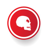 Scull button,vector