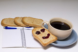 cup of coffee with toast