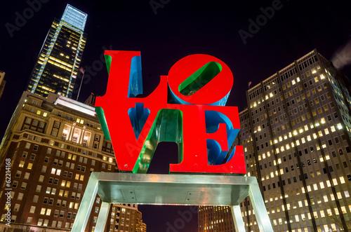 The Love statue in the Love Park Philadelphia - 62214168