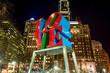Leinwandbild Motiv The Love statue in the Love Park Philadelphia