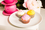 cute and colorful yummy cupcakes
