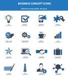 Business & Strategy concept icons,Blue version