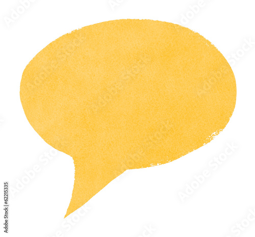 Watercolor Hand-Painted Yellow Speech Bubble