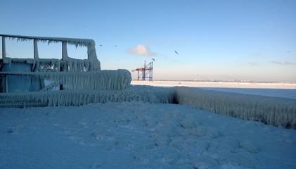 Odessa winter seascape