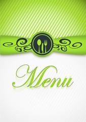 carte menu vertical vert anis