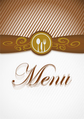 carte menu format vertical marron (cs5)