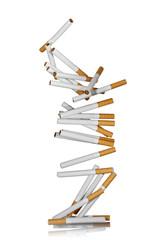 falling cigarettes