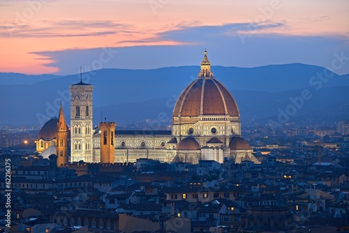Duomo in Florence at sunset