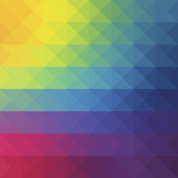 Abstract geometric background with polygons rainbow, yellow, red