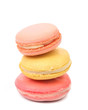 Stack of various macarons.