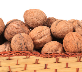 Basket of walnuts.