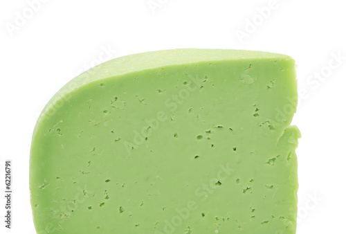 Piece of cheese wasabi.