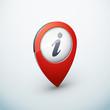 icône épingle punaise marqueur carte information