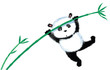 Jumping Panda on bamboo - 62217597