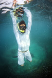 Man Snorkeling in the Adriatic Sea