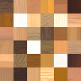 a large amount of different wood samples
