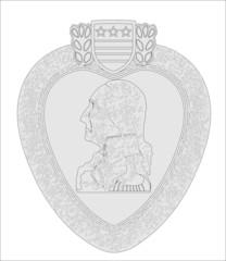 Purple Heart Medal Outline