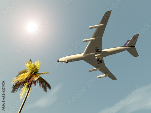 canvas print picture Airliner