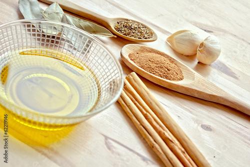 Keuken foto achterwand Kruiderij Condimentos para sazonar recetas