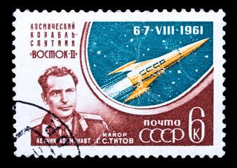 USSR stamp, cosmonaut G.S.Titov