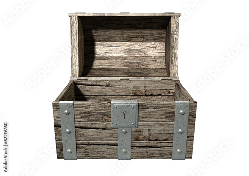 Treasure Chest Open Empty