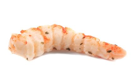 Cooked unshelled tiger shrimp.