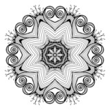 Ornamental round lace pattern is like mandala_1