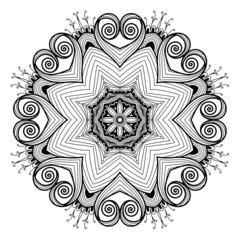 Ornamental round lace pattern is like mandala_1