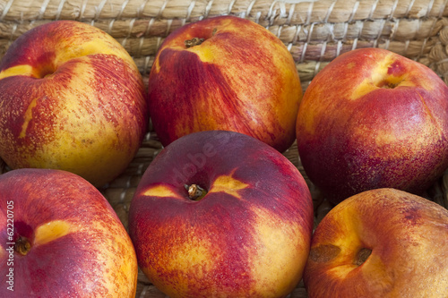 nectarines in the basket