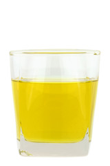 A glass of Cooking Oil isolated on white background