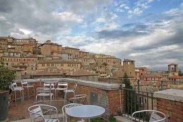 Terrazza con vista su Perugia