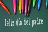 feliz dia del padre, happy fathers day written in spanish