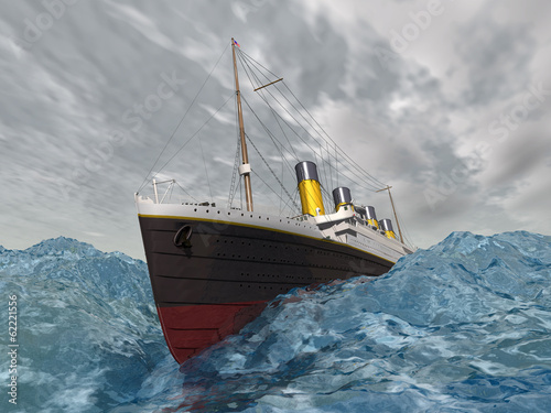 Ocean Liner in the stormy ocean
